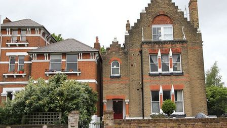 The Spaced house in Tufnell Park where Chris Winter lives with her family