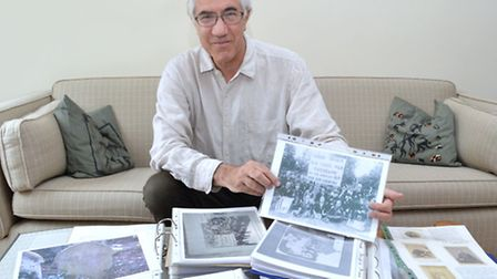 Michael Hammerson with some of his US Civil war history research items. Picture: Polly Hancock