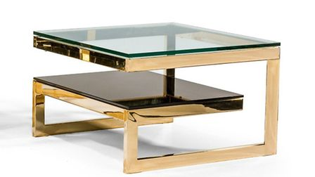 Gold-plated 1970s Belgian coffee table, available at the Battersea Decorative Antiques and Textiles