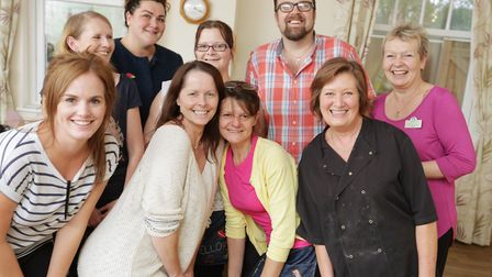 The team at Harleston House, who have been shortlisted as a finalist in the National Dementia Care Awards. Picture...