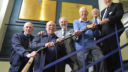 Old Elysians Brian May, Ken Brown, Derek Holden, Roy Causton, John Jeanes and Terry Richmond revisit