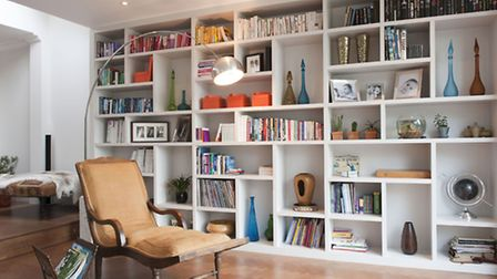 Wall storage units, from £1,200 per linear metre, available from from Barbara Genda Bespoke Furnitur
