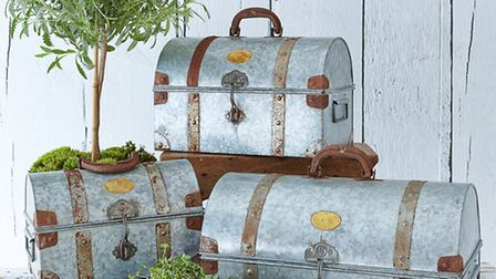 Set of three storage trunks, £125, available from Nordic House. PA Photo/Handout