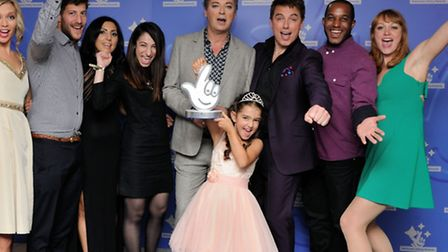 Julian Clary presents the award to Ministry of Stories