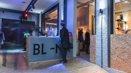 The entrance of the new BL-NK in Curtain Road