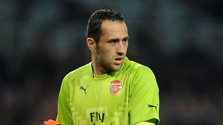 Arsenal goalkeeper David Ospina was away on international duty at the time of the raid