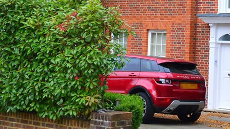 Only a Range Rover now sits in Ospina's drive. Picture: Polly Hancock