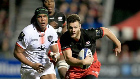Saracens' Duncan Taylor in action against Toulouse. Pic: Matthew Impey/Wiredphotos.co.uk