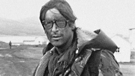 London Standard correspondent Max Hastings in battledress. He was credited as the first Briton into