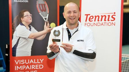 Paul Ryb shows off his latest medal. Pic: James Jordan