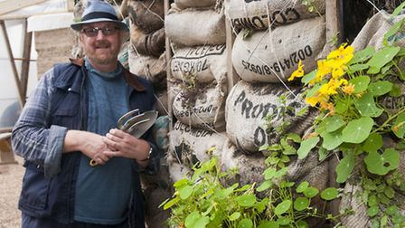 Paul Richens, manager & founder of The Skip Garden in King's Cross. Picture: Nigel Sutton