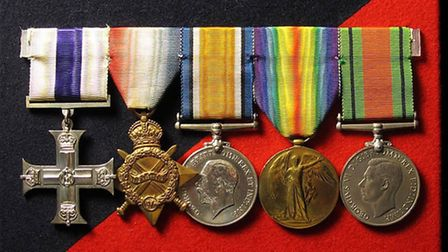 The medals won by Soloman Davis