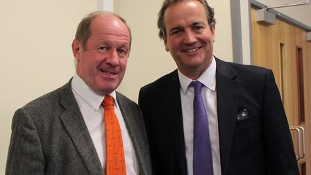 Suffolk police and crime commissioner Tim Passmore met with police minister Nick Hurd to express concerns over unfair...