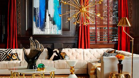 Put on the glitz, ramp up the glamour and create cosseting sanctuaries where you can relax and enter