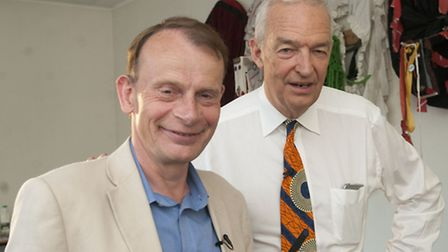 Both Andrew Marr and Jon Snow have donated bags for the charity auction. Picture: Nigel Sutton