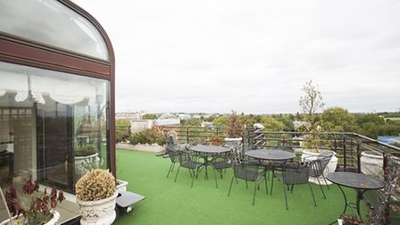 There are spectacular views of Primrose Hill, Hampstead Heath and Hyde Park from the roof terrace