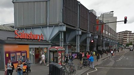 The Sainsbury's store in Camden Road where the man died (Picture: Google Street View)