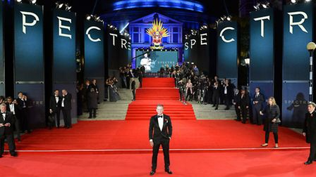 Daniel Craig at the world premiere of Spectre, where Palmer tussled with police. Picture: Matt Cross