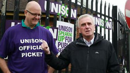 Shadow chancellor John McDonnell joined the picket line at a previous strike by Barnet Council worke