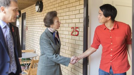 Princess Royal meets first-time home-buyer at Homerton's low-cost 'Pocket' housing scheme