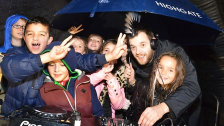 Mike Skinner of The Streets DJs at Highgate School's fireworks night last year. Picture: Polly Hanco