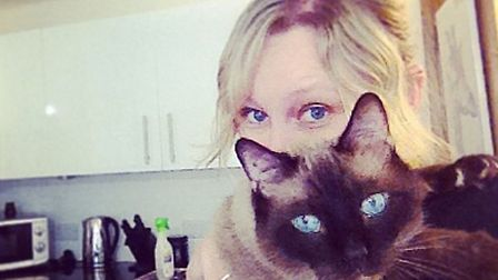 Meshell Boyle with one of her cats