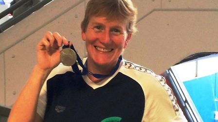 Nuala Muir-Cochrane won a silver medal in the 1500m freestyle in the 50-54 years age category