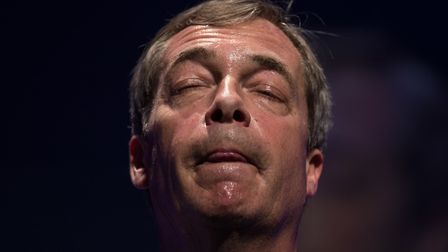 Never mind the war: Nigel Farage thinks the nation has never faced such a test as Brexit. Photo: Get