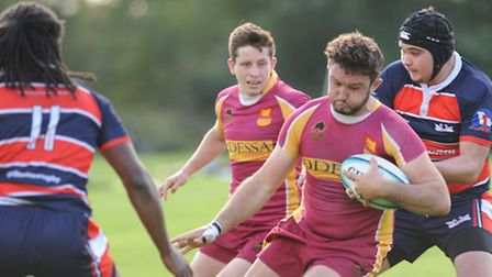 Hampstead captain Andy McEwen scored three of his side's five tries. Pic: Paolo Minoli