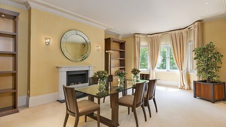 The dining room at the Harley House apartment