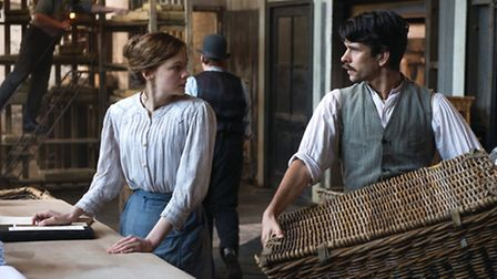 Carey Mulligan (Maud) & Ben Whishaw (Sonny) in Suffragette