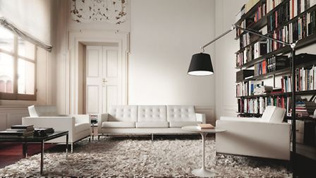 LOCAL: Florence Knoll Sofa in White Leather, 3 seater from £8000.00, NW3 Interiors