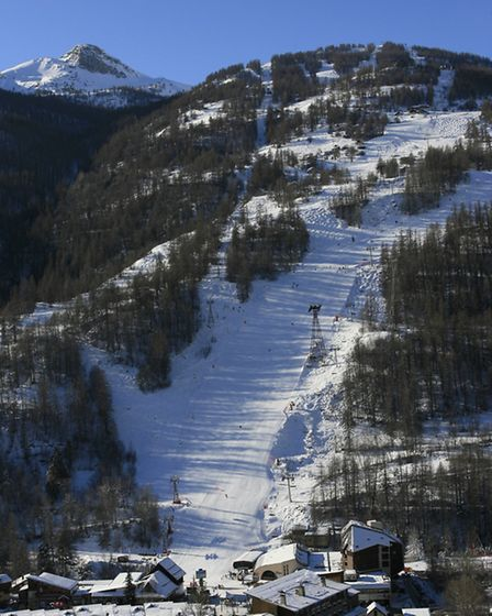 The ski area in Serre Chevalier.