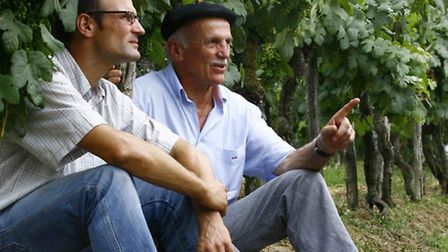 Plaimont's Olivier Burdet-Pees (left) and Andre Dubosc. Picture: Michel Carossio