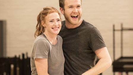 Rosalie Craig and Joe Bannister in rehearsals for As You Like It. Picture: Johan Persson
