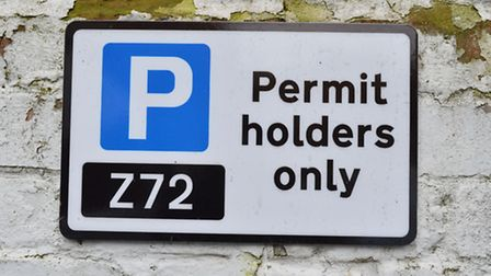 Only permit holders are allowed to use the Catherwood Court car park. Picture: Polly Hancock