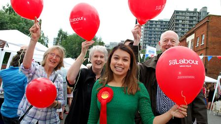 Tulip Siddiq and Labour supporters on the campaign trail ahead of May's General Election. Picture: P
