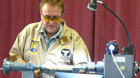 Waveney Woodturners special demonstration. Gary Rance demonstrates. Pictures: Courtesy of the Waveney and District...
