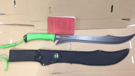 """This """"zombie killer"""" knife was seized by police officers in Camden Town"""