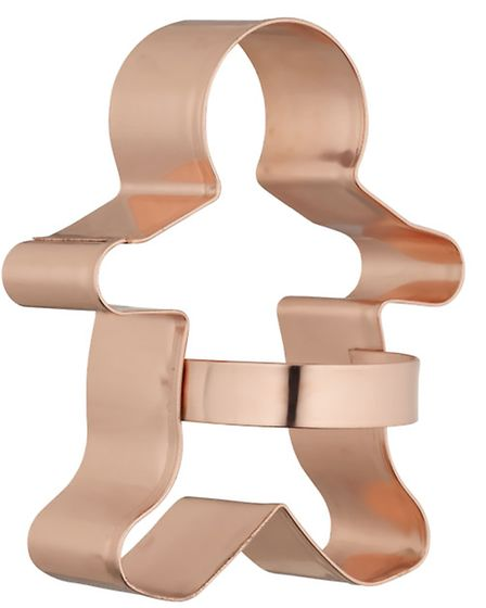 This John Lewis Eddingtons copper gingerbread cookie cutter, £4, looks cool in its own right, but wi