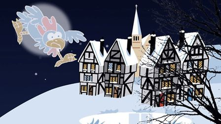The ghost chicken flies above Highgate Village in a still from the short film