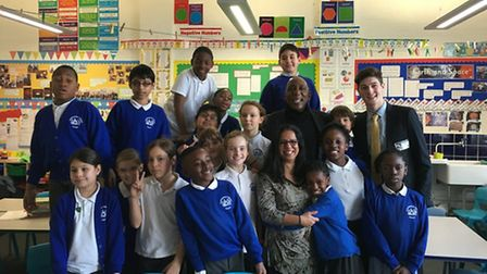 Students at Queensbridge Primary School take a look into their history with special guests