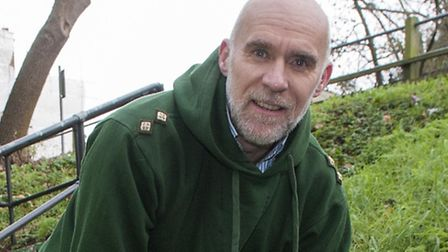 Simon Olley , chairman of the Friends of Parkland Walk. Photo: Nigel Sutton