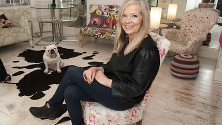 Jo Good at home in Marylebone with Matilda