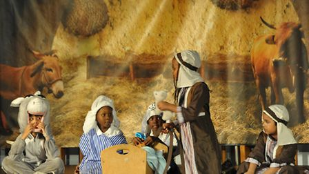 Kingsmead primary pupils performing their nativity play