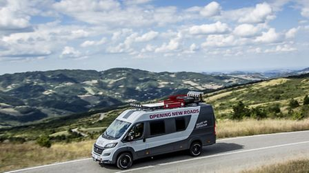 Not enough for a piece of land, but a Fiat Ducato 4x4 motor home would offer mobility, and a combina