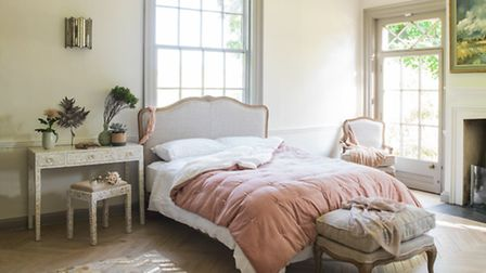 This Antoinette bed from Graham & Greene forms part of The Inhouse Way's glamorous interiors refurb