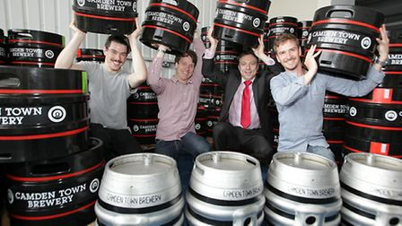 Staff at Camden Town Brewery, which is being taken over by global drinks giant AB InBev