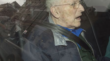 Lord Janner leaves Westminster Magistrates' Court by car. Picture: PA/Anthony Devlin.