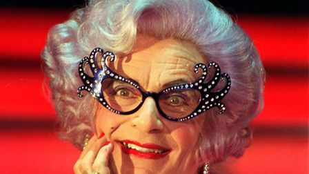 Dame Edna aka Barry Humphries. Picture: PA